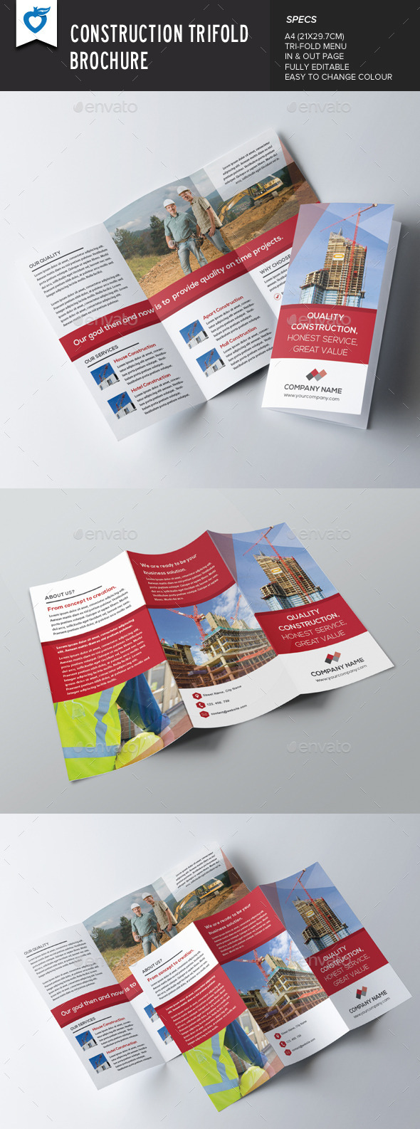 GraphicRiver Construction Trifold Brochure 9234613