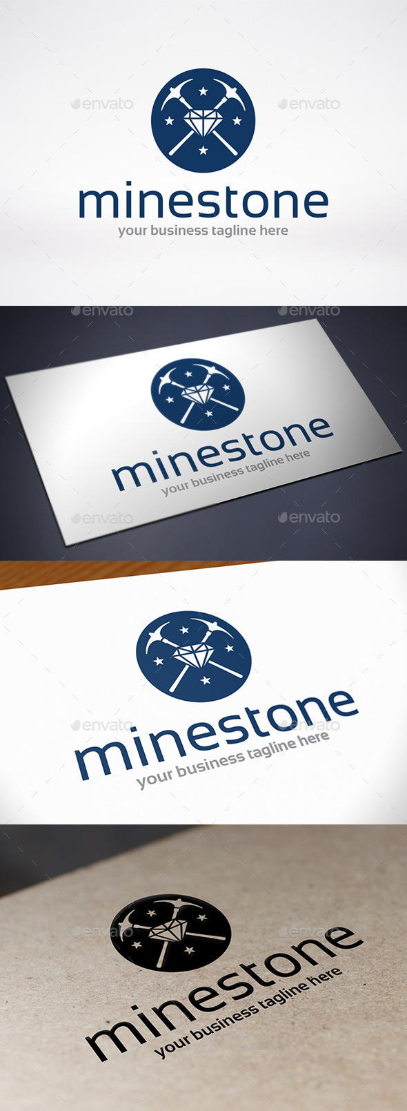 GraphicRiver Stone Mining Logo Template 9235105