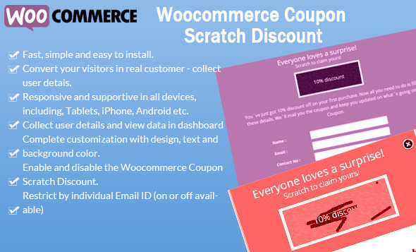 CodeCanyon WooCommerce Coupon Scratch Discount 9235287