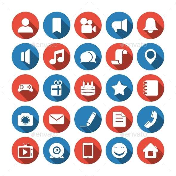 GraphicRiver Social and Media Icons 9235290