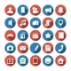 Social and Media Icons - GraphicRiver Item for Sale