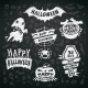 Chalk Halloween Labels - GraphicRiver Item for Sale