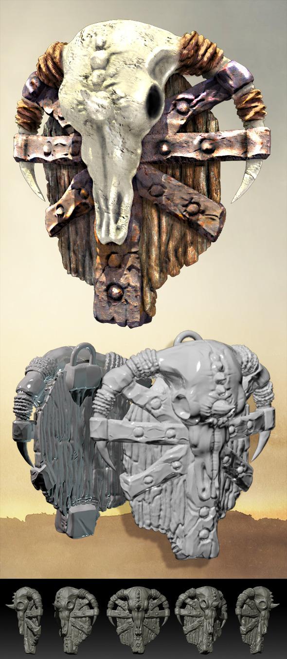 3DOcean Fantasy Orcish Shield 9235340