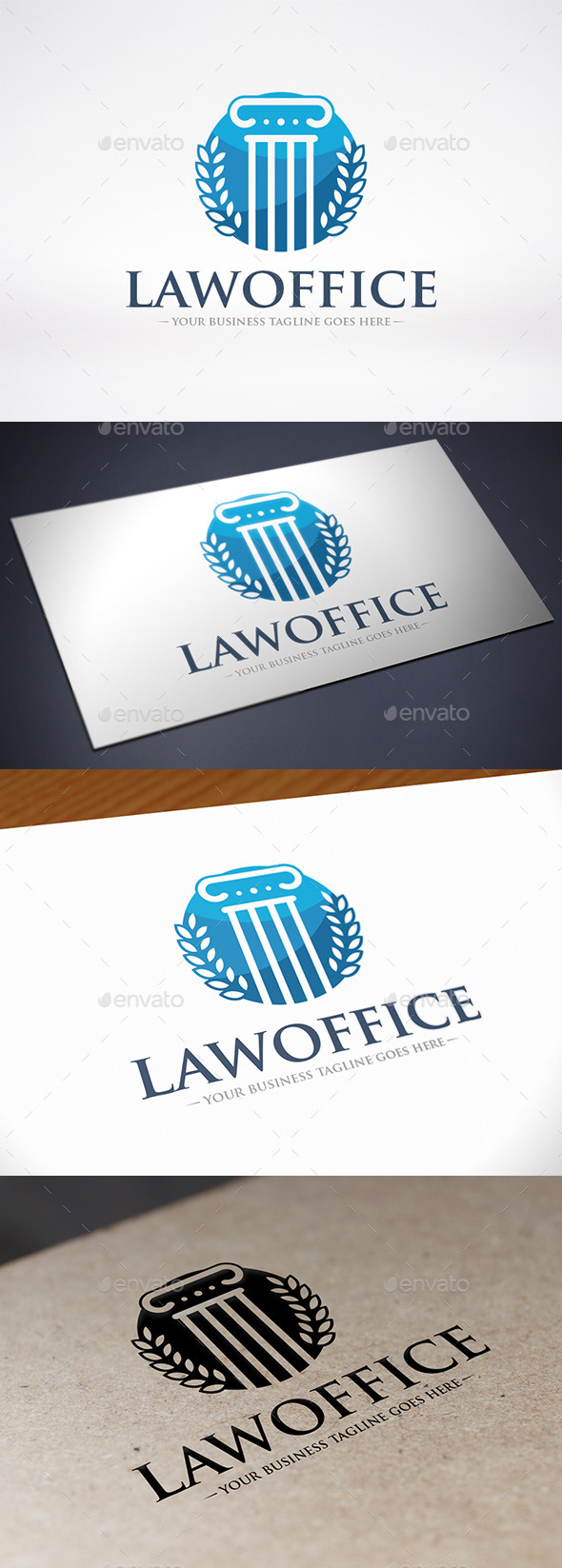 GraphicRiver Law Firm Column Logo Template 9235343