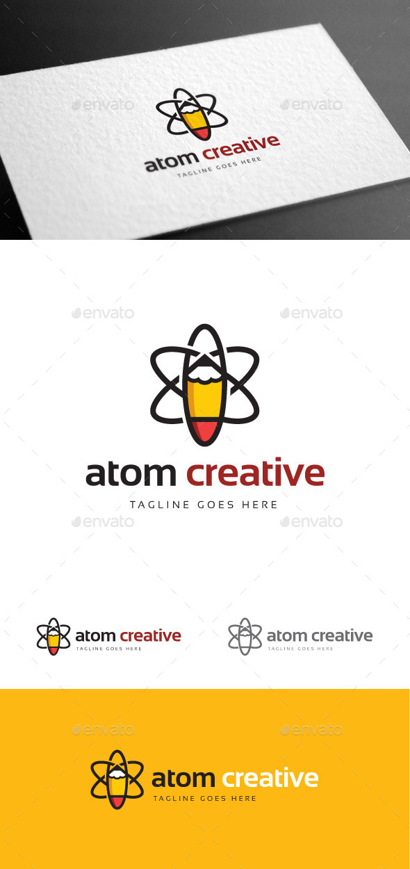 GraphicRiver Atom Creative Logo Template 9235360