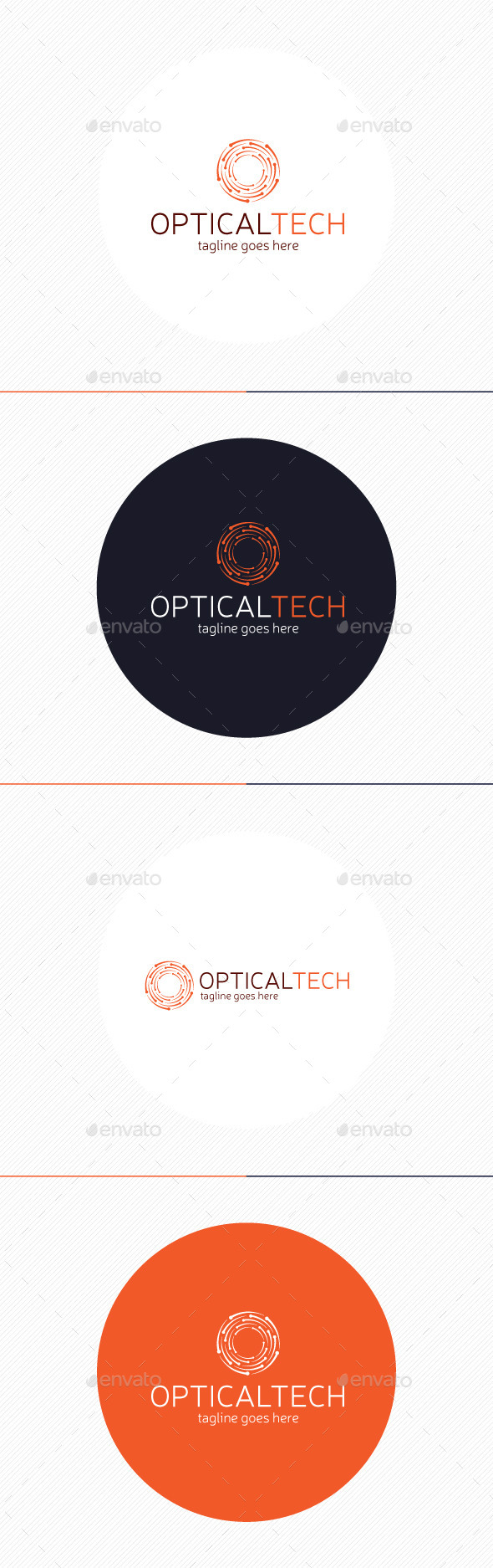 GraphicRiver Optical Tech Logo Letter O 9235465