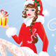 Pin Up Christmas Girl wearing Santa Claus Suit - GraphicRiver Item for Sale