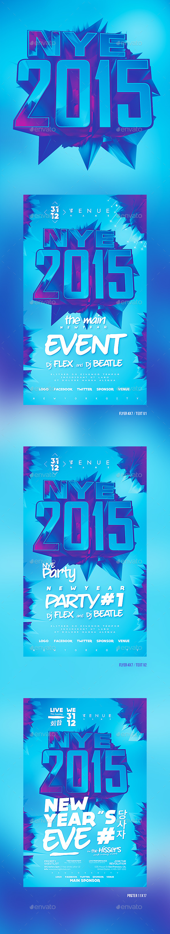 GraphicRiver New Year 2015 NYE New Year s Eve 9235773