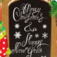 Wooden Chalkboard with Christmas Items - GraphicRiver Item for Sale