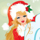 Blond Xmas Girl Wearing Santa Claus Suit  - GraphicRiver Item for Sale