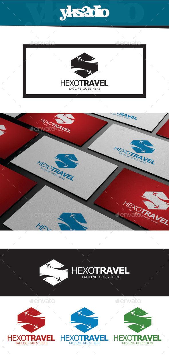 GraphicRiver Hexo Travel Logo 9236133