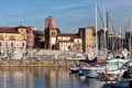 View on Old Port of Gijon and Yachts - PhotoDune Item for Sale