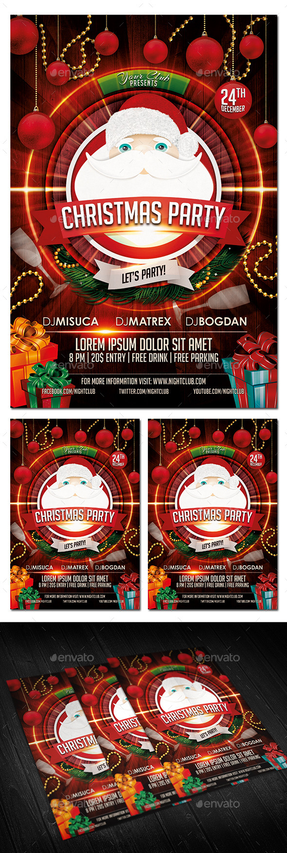 GraphicRiver Christmas Party Flyer 9236441