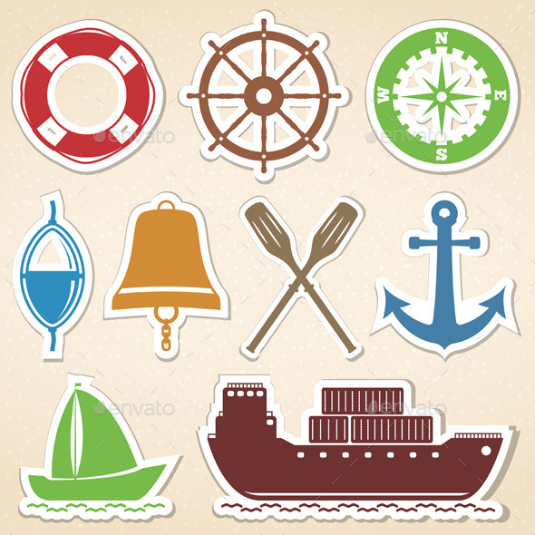 GraphicRiver Nautical Icons 9236477