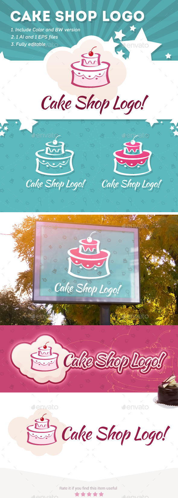 GraphicRiver Cake Shop Logo 9236551
