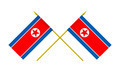 Two Crossed Flags of North Korea, 3d Render, Isolated on White - PhotoDune Item for Sale