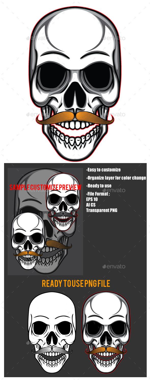 Skull Mustache