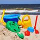 Plastic children toys on the sand beach - PhotoDune Item for Sale