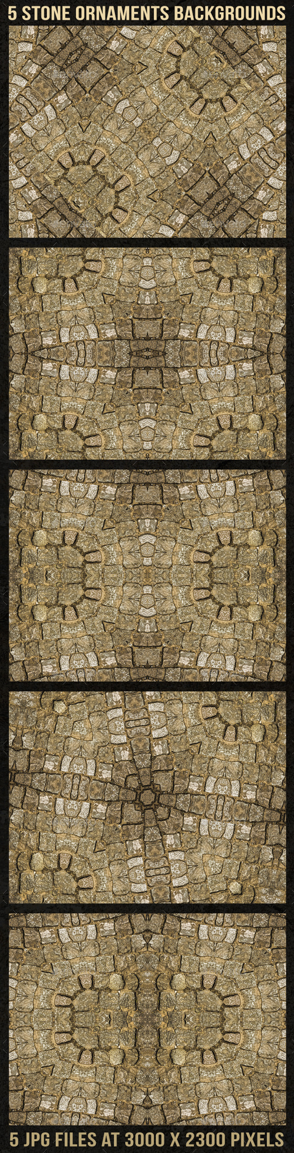 GraphicRiver 5 Stone Ornaments Backgrounds 9236685