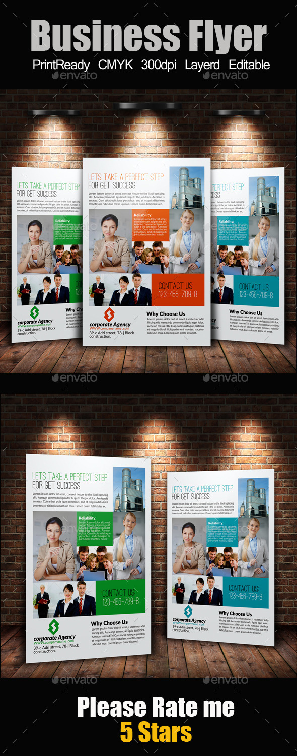 GraphicRiver A4 Business Flyer 9236697