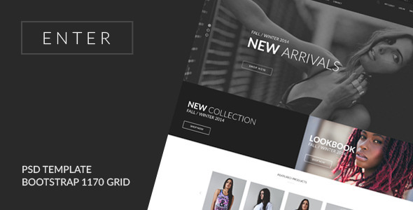 ThemeForest ENTER eCommerce PSD Template 9236804