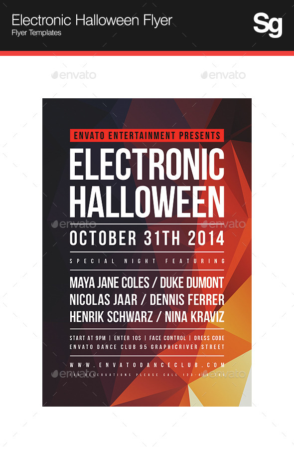 GraphicRiver Electronic Halloween Flyer 9236865