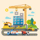 Construction. Process, Tools, and Materials - GraphicRiver Item for Sale