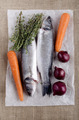 sea bass and vegetable on paper - PhotoDune Item for Sale