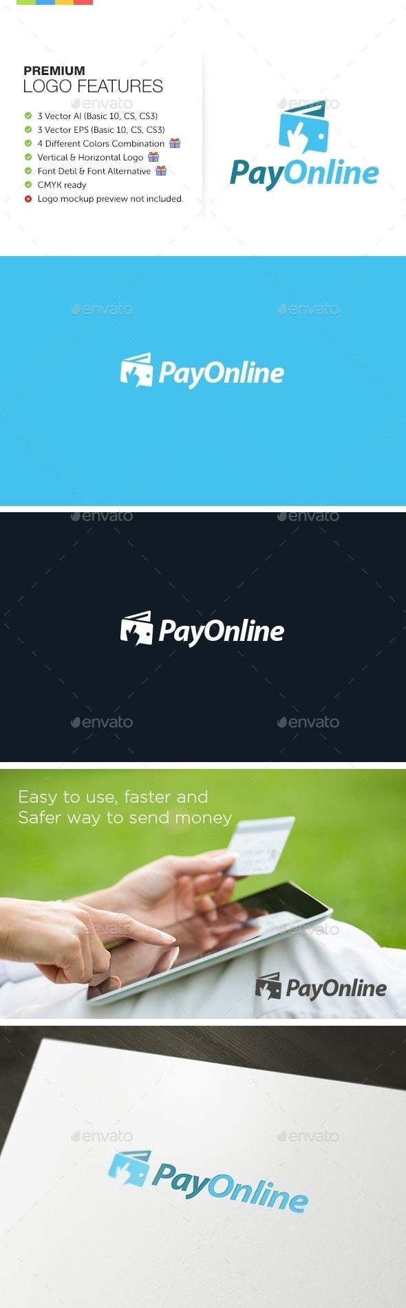 GraphicRiver Online Payment Logo 9237026
