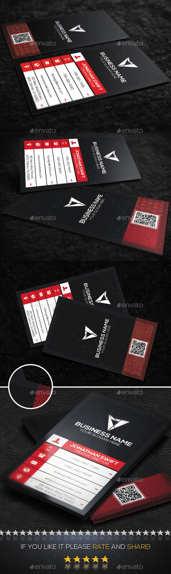 GraphicRiver Corporate Business Card No.04 9237047