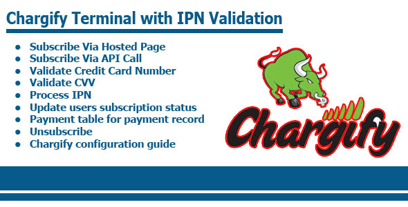 CodeCanyon Chargify Terminal With IPN Validation 9014545
