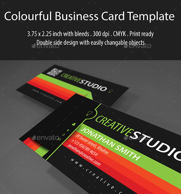 GraphicRiver Colorful Business Card Template 9237354