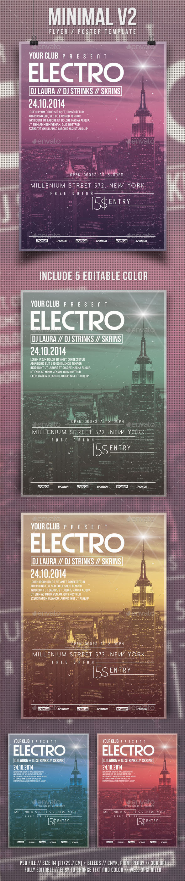 GraphicRiver Minimal V2 Flyer Template 9237361