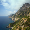 Panorama of the Amalfi coastline