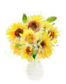 Watercolor Image Of Sunflowers Bouquet - PhotoDune Item for Sale