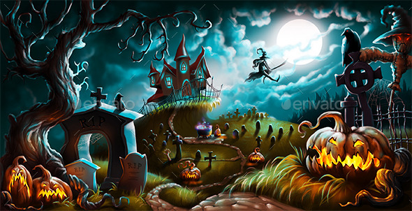 GraphicRiver Halloween 9237997