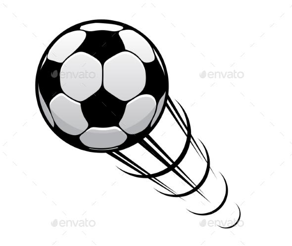 GraphicRiver Football speeding through the air 9238240