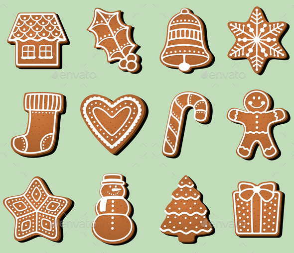 GraphicRiver Gingerbread Christmas Cookies 9239456
