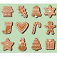 Gingerbread Christmas Cookies - GraphicRiver Item for Sale