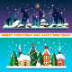 Flat New Year and Christmas Landscapes - GraphicRiver Item for Sale