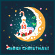 Flat Christmas Postcard - GraphicRiver Item for Sale