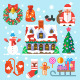 Flat Symbols of New Year and Christmas - GraphicRiver Item for Sale