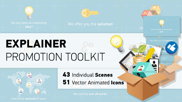 Character Design Animation Toolkit After Effects Project : After effects project videohive explainer promotion