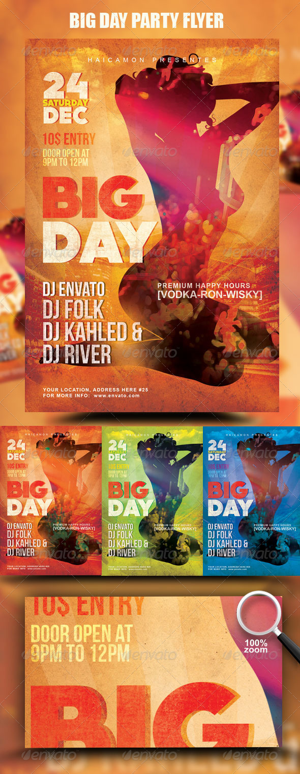 Big Day Party Flyer - Clubs & Parties Events