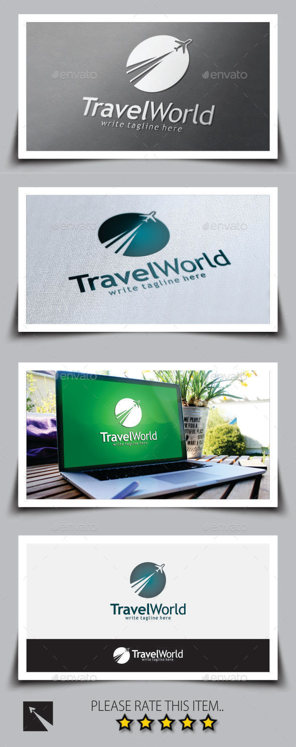 GraphicRiver Travel World Logo Template 9240163