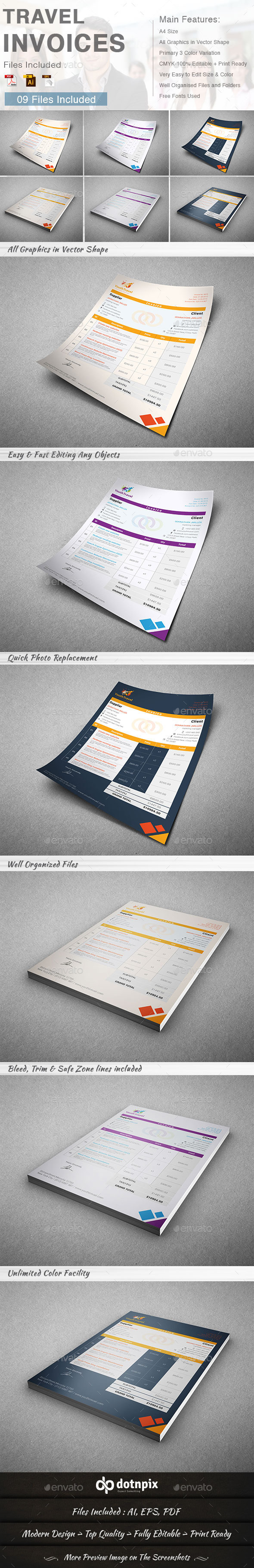 GraphicRiver Travel Invoice 9240534
