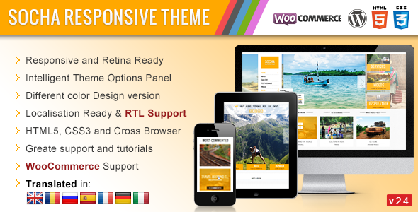 Socha Responsive WordPress Theme - Photography Creative