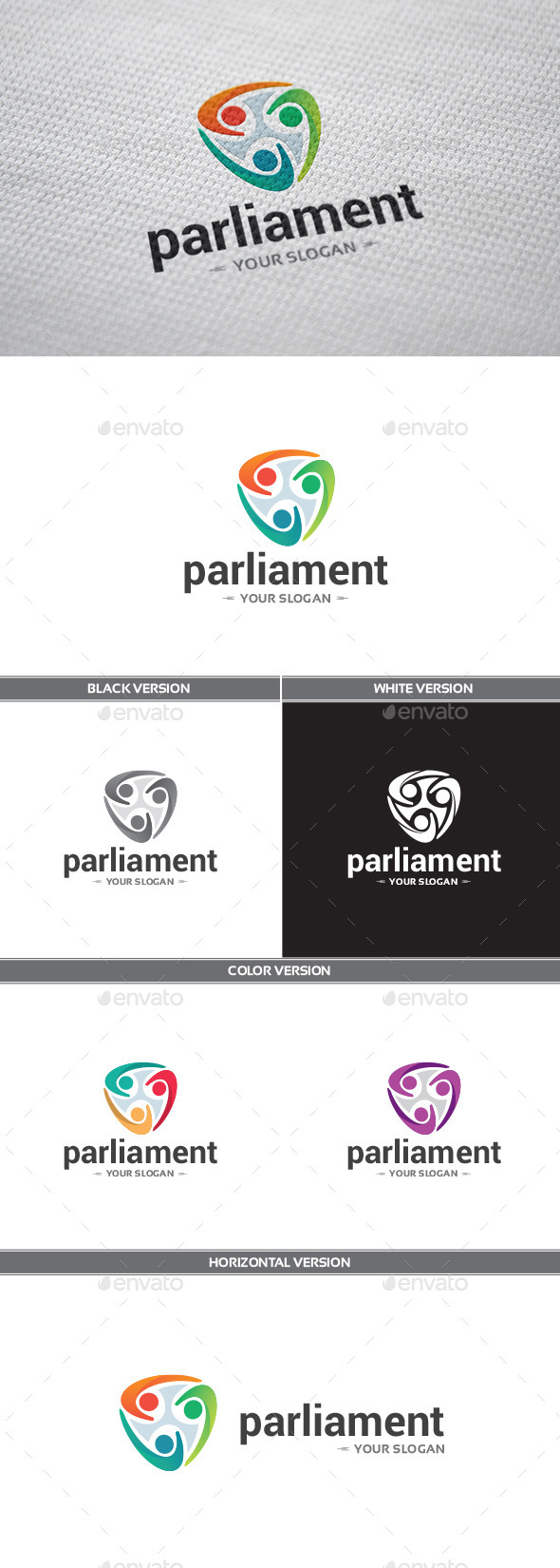 GraphicRiver Parliament Logo 9240536