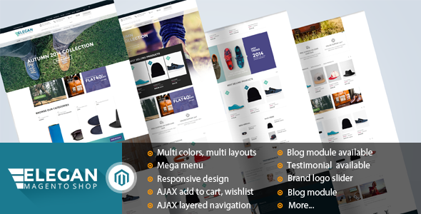 ThemeForest Elegan Fashion Responsive Magento Theme 9240538