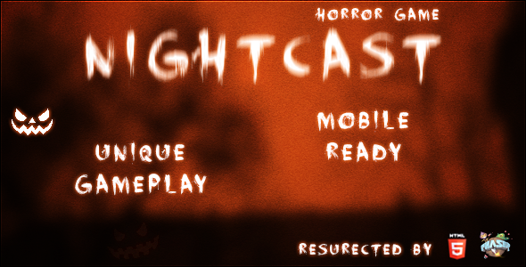 CodeCanyon Nightcast HTML5 Horror Game 9240540
